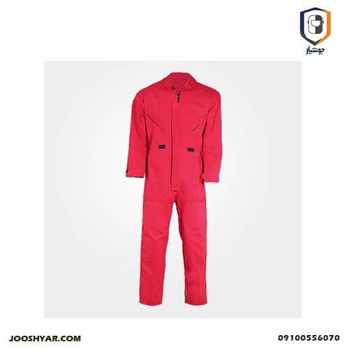 لباس کار یکسره آرگون قرمز